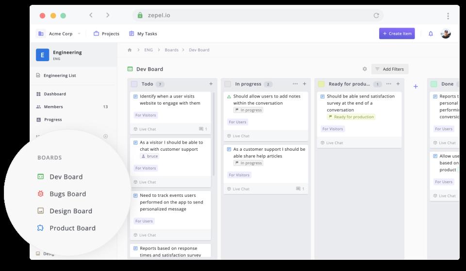 Zepel product screenshot