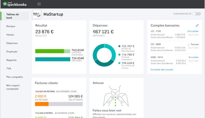 Quickbooks product screenshot