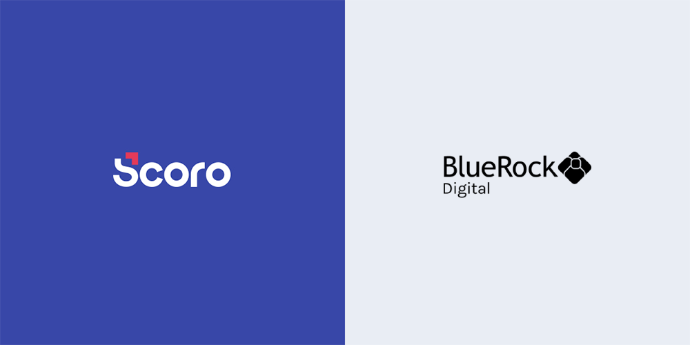Scoro & BlueRock Digital logos side by side